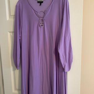 Purple flowy dress